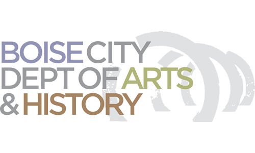 Grey background with title of organization to the left. Organization name Boise City Department of Arts & History