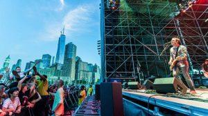 Outdoor concert in Hudson, New york