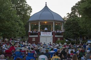 Outdoor concert in Lawrence, Kansas
