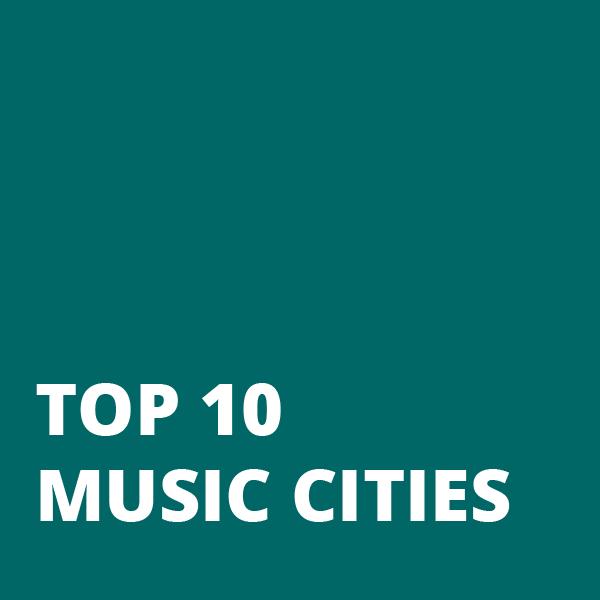 Top 10 Music Cities Block