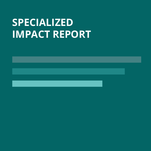 dark background with text that says Specialized Impact Report