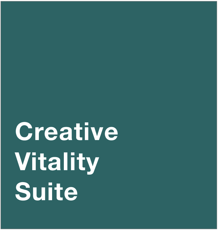dark background with text that says Creative Vitality Suite