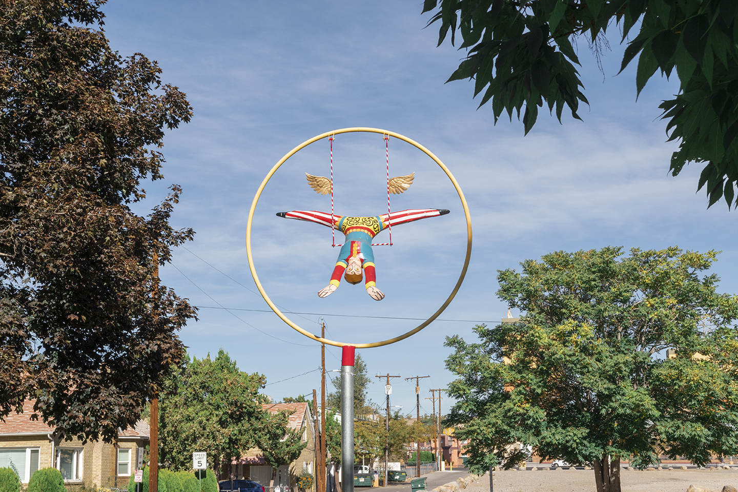 Daring Young Man on the Trapeze by Ric Blackerby, 2019. Image by City of Reno. Photo courtesy of the Public Art Archive.
